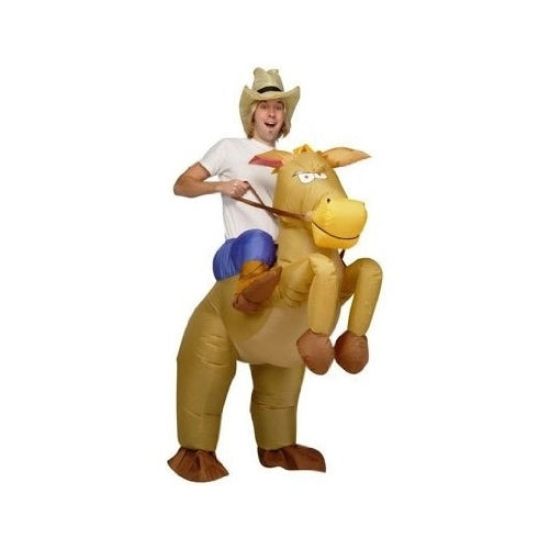 Inflatable Horse and Cowboy Fancy Costume Dress Suit - Adult Size