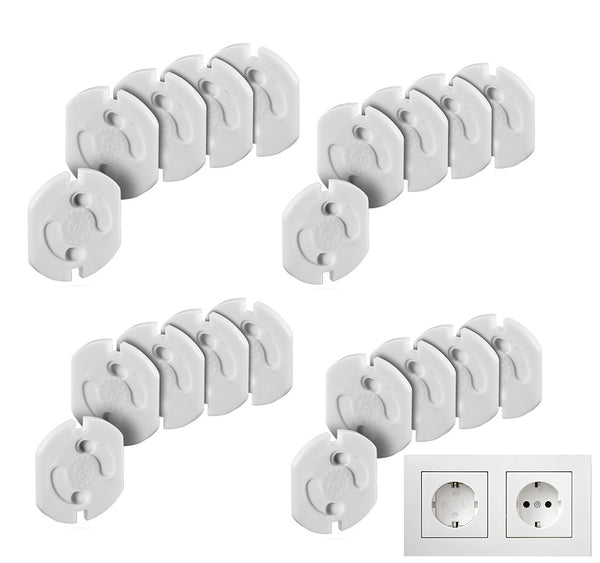 Safety Lock for Electric Sockets, White, Pack of 20
