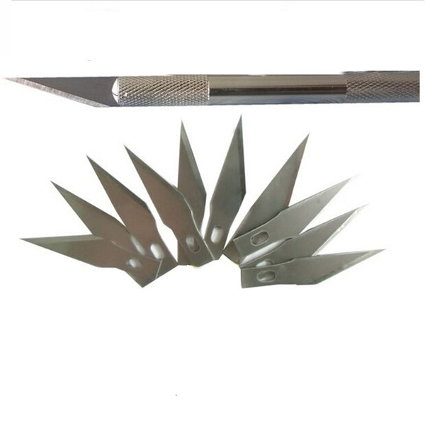 Hobby Knife with 20 Refill Blades Type #11 - Precision Hobby Cutter Knife