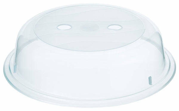 Microwave Plate Cover Plastic Polypropylene Clear 26cm with grip recess