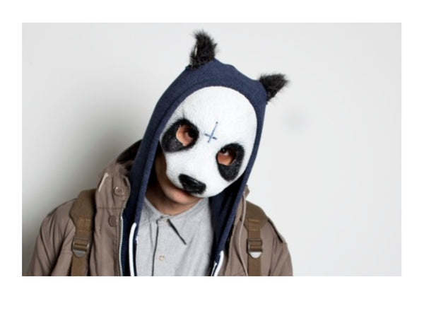 Panda fancy dress mask for adults and kids
