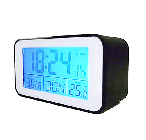 Alarm clock with thermometer - radio-controlled