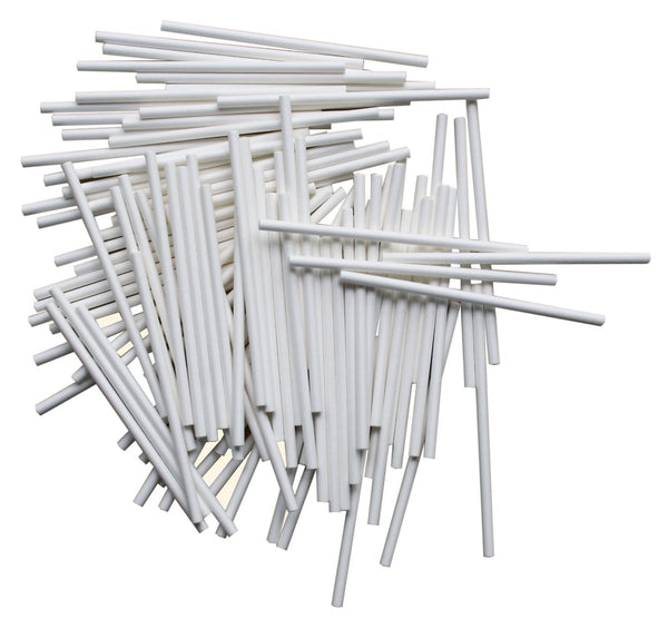 Paper stalks for Flexiform Cake Pops, Lollipop Sticks, 10cm, Set of 100