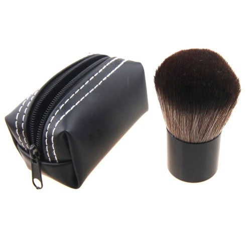 Kabuki Make up  Brush With Nylon Hair Aluminium Tube - PU Pouch Case