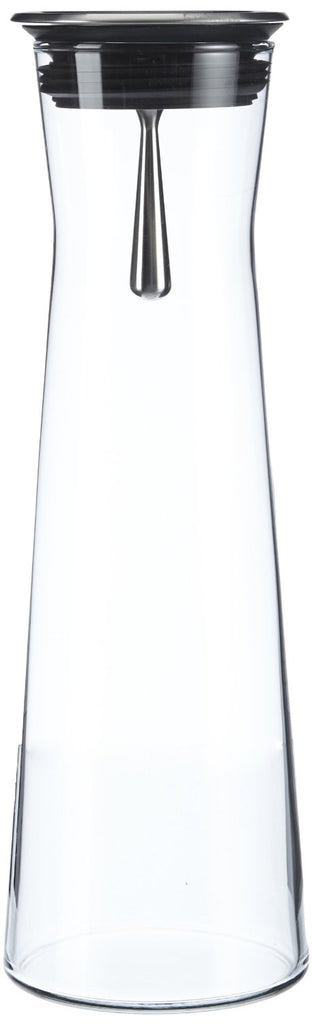 Glass carafe with spout, for keeping cool refreshing drinks, Stylish shape, Practical Spout