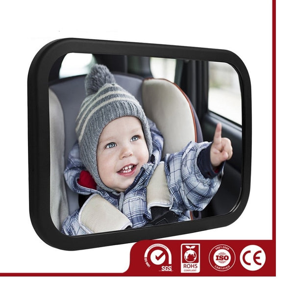 Backseat Mirror For Babies, With 2 Mounting Options /Headrest or Rear Window. Mirror Surface of 155 x 99 mm, Specifically Designed For Infant Carrier