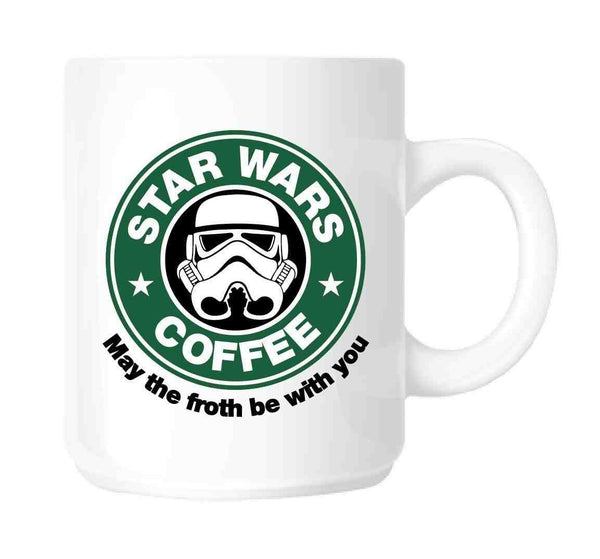 Star Wars Coffee Mug in Ceramic | Parody STAR WARS - May The Froth Be With You Star Wars