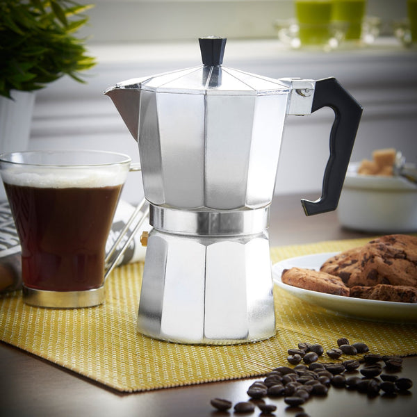 Aluminium Coffee Pot Moka for 3 cups | For Italian-style espresso coffee