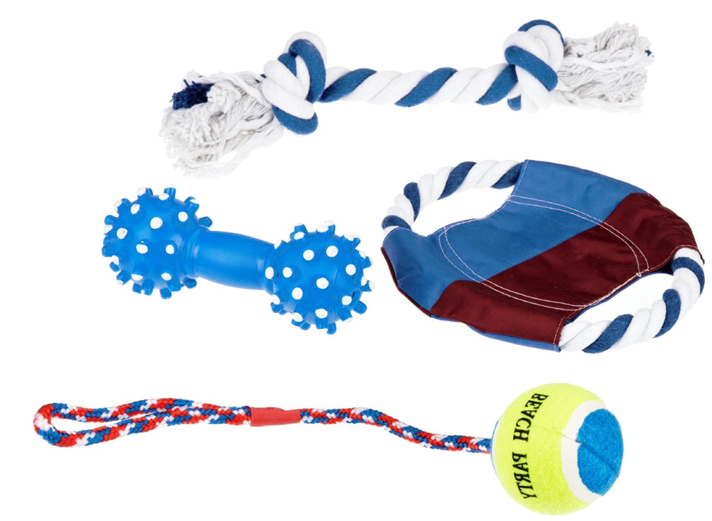 Set of toys for dogs, 4 pcs | Lots of fun for your dog!
