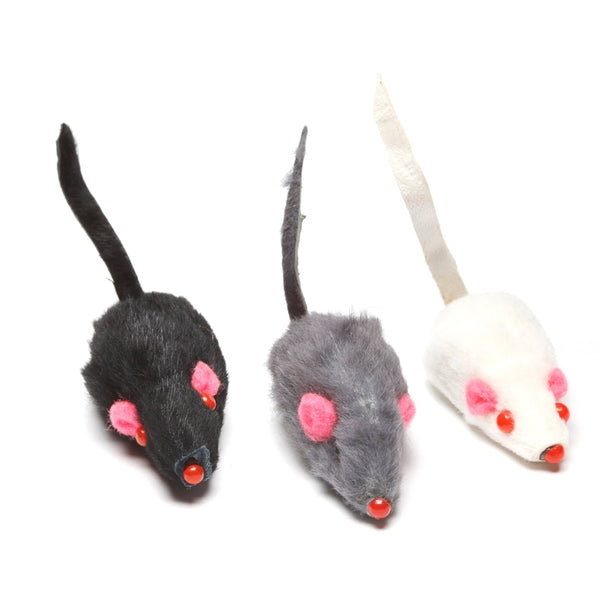Set of Peluche Toys | Cats' toys: 9 Fur mice for cats | Lots of fun for your cat!