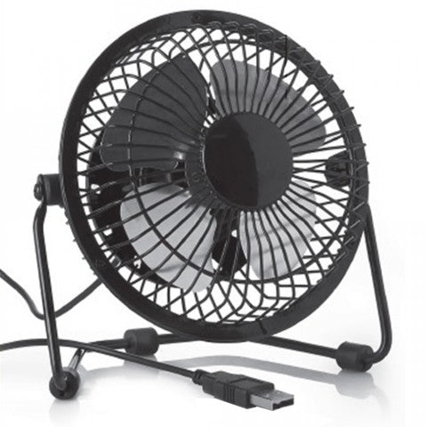 USB Fan for the office /desktop | Low noise, 2 speeds, 360 degrees rotation | Easy to carry around | Black