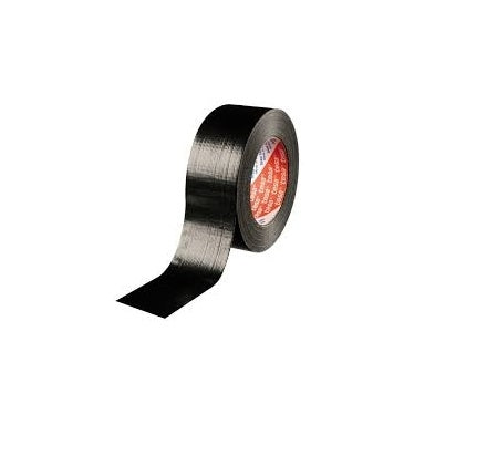 Black Duct Tape | Roll of cloth tape | 48mm x 50m | DIY Book Binding Safety High Strength Adhesive
