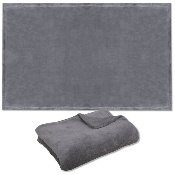 Polyester Pet blanket | Grey / gray | 90 x 120 cm | Accessories for cats and dogs