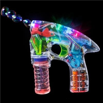 Transparent LED light BUBBLE GUN | Kids Birthday Bubble Gun for Children | Toy Game | Bubble Solution INCLUDED !