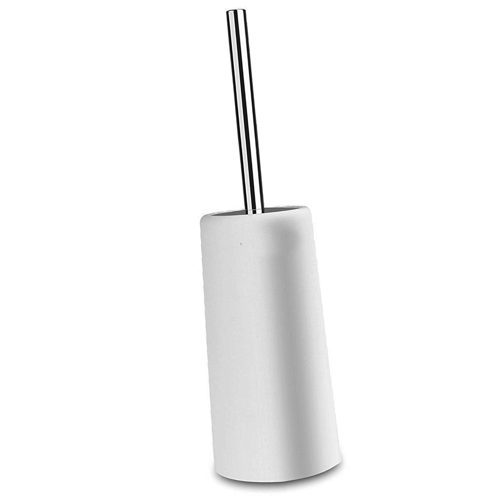 Closed Toilet Brush Set | Toilet Brush and Canister Holder | White
