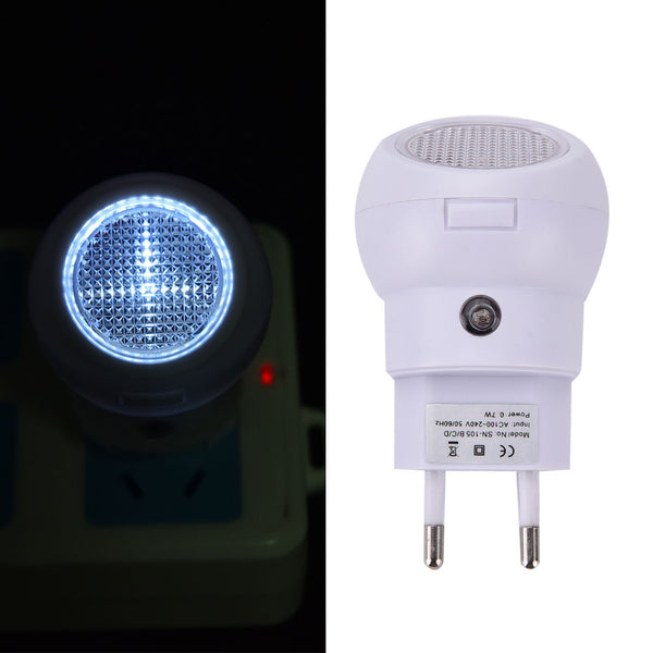 Night light with rotating head and brightness sensor - Directly connected to power supply - Easy installation