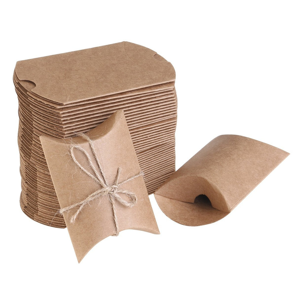 50x Natural Brown Gifts Boxes, Party Gift, Craft Paper Gift Box - DIY Creativity Paper - 50 Pieces