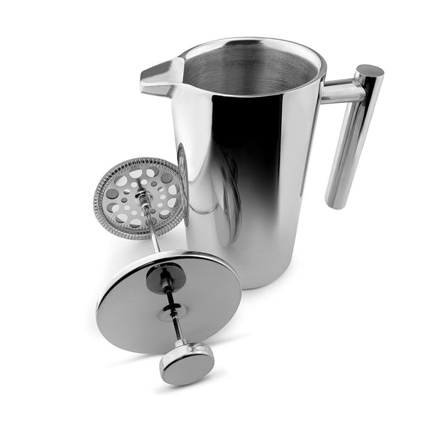 8 Cups, 34 Oz French Press Coffee Maker - 1000ml Double Wall Stainless Steel Cafetiere
