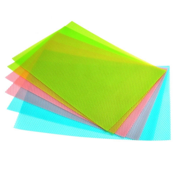 6 Antibacterial Refrigerator Mats - Avoid Moisture And Odors, Non-slip, Washable And Cut To Size, 29 X 45 Cm, 3 Colours