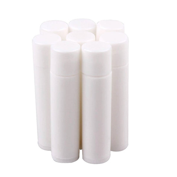 50 Pieces 3/16 Oz , 5.5ml White Empty Tubes for Lips Balm, Tubes Containers