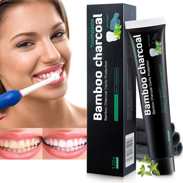 Activated Carbon Toothpaste, For White Teeth And Teeth Cleaning, Natural Teeth Whitening, Black Toothpaste, No Chemical Additives, Charcoal Whitening,