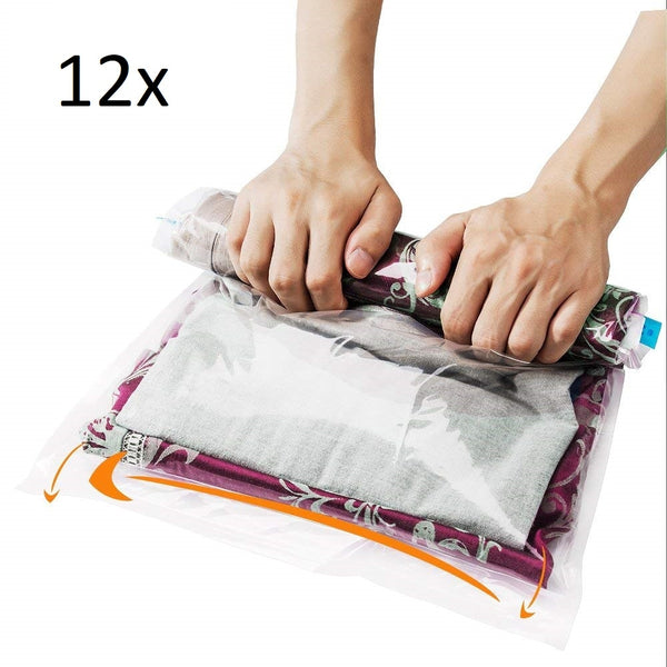 12 Travel Storage Bag, Wash Bag for Travel and Storage Bag, For Clothes Blanket, Towels, No Pump needed