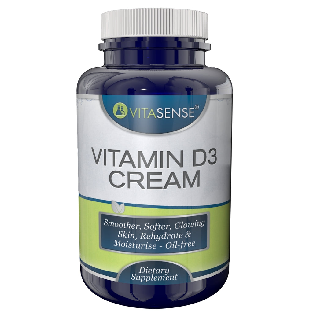 VitaSense Vitamin D3 cream 100ml- Smoother, softer, glowing skin, rehydrate & moisturise - Oil-free cream