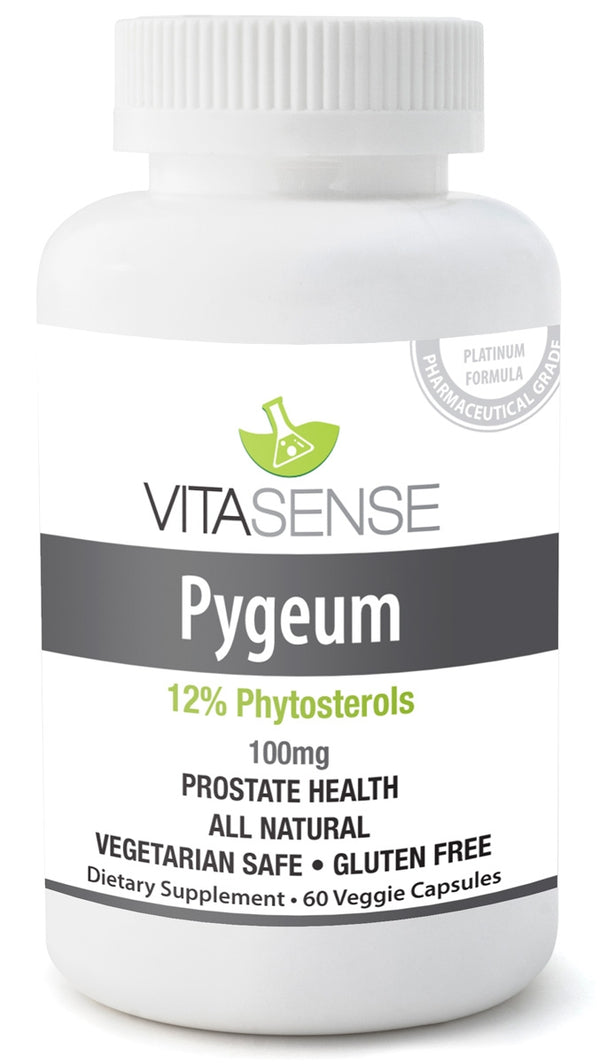 VitaSense Pygeum 100 mg (12% Phytosterols) - Prostate Health - 60 veggie capsules