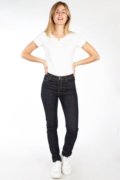 Jeans Taille Haute Super Stretch Brut