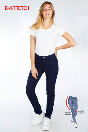 Jeans Power Stretch Skinny Taille Haute Brut
