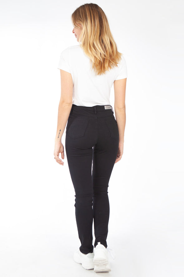 Jeans Power Stretch Skinny Taille Haute Noir
