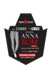 ANNA Gris/210085 Slim Stretch