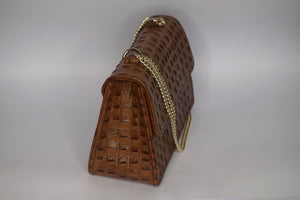 Mini Tee Bag - Brown croc