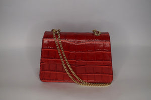 Mini Tee Bag - Red Croc