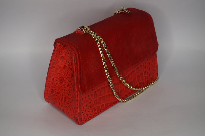Mini Tee Bag - Red with hair flap
