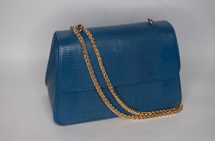 Midi Tee Bag - Blue Lizard Print