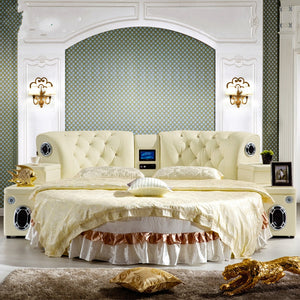 High quality comfortable round shaped double bedroom set.
