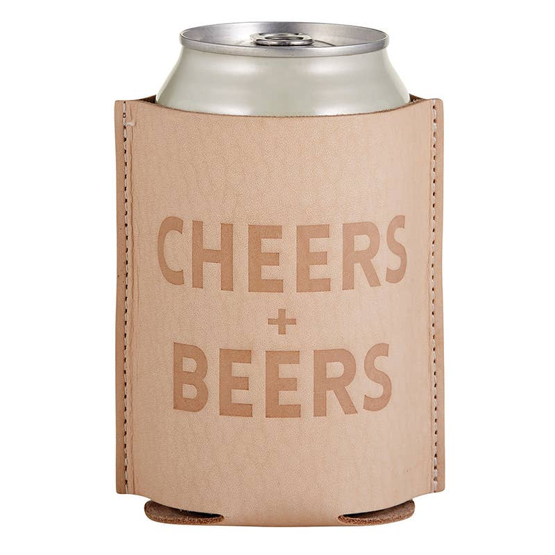 Leather Coozie - Cheers