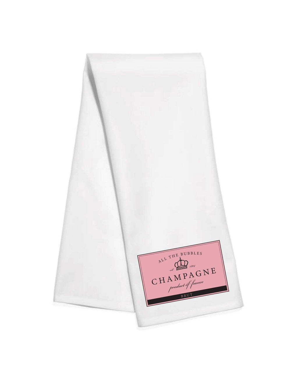 Champagne Label Kitchen Towel