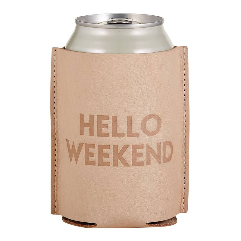 Leather Coozie - Hello Weekend