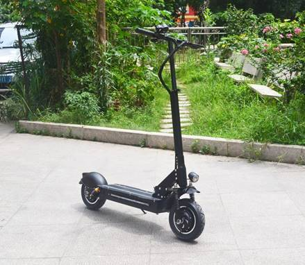 F&F 10 inch Dual Motor Scooter AS100D Foldable 1000W 52V Motor with Total of Six Suspensions and 2 Remote Control