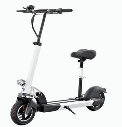 F&F 10 inch Dual Motor Scooter AS101 Foldable 500W 36V Motor with Front Spring Absorption and 2 Remote Control