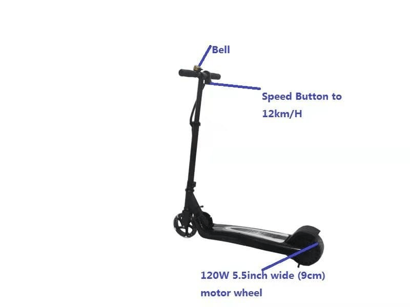 F&F 5.5 inch Kid Scooter KS55 100W Aluminum Alloy and Plastic with Bluetooth Speakers