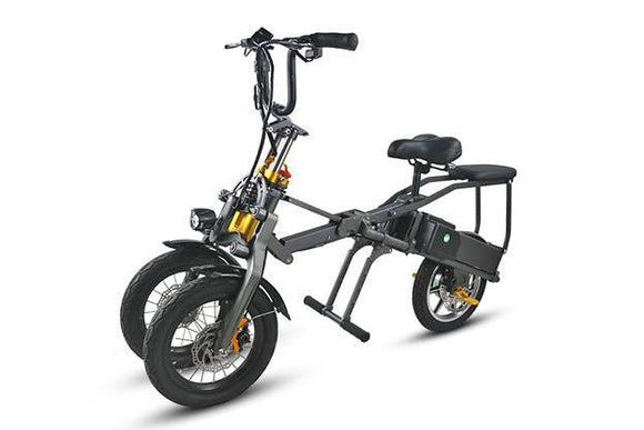 F&F 14 Inch Aluminium Alloy Three Wheel Folding Scooter AS140 36V Motor with Front and Rear Oil Disc Brakes
