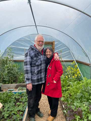 Pauline and Alan in the May Close polytunnel