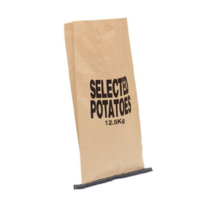 Nutley's half-size paper potato sacks 12.5kg stitched bottom 3-ply plain harvest store vegetables