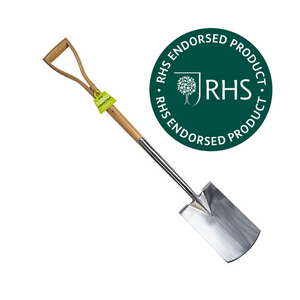 Burgon & Ball Garden Digging Spade RHS Endorsed Ash Wood Handle 100kg strain