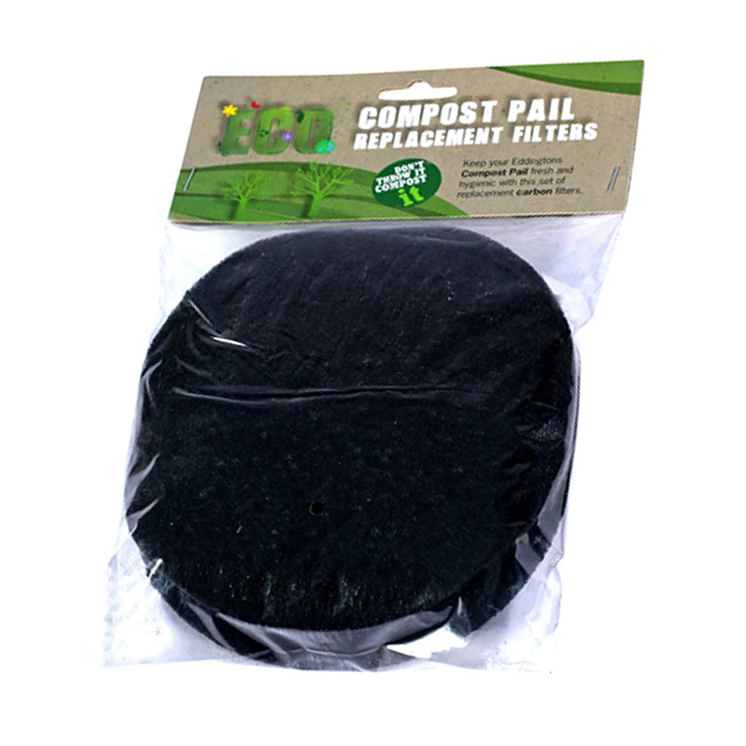 Replacement Charcoal Odour Filters for Eddingtons Deluxe Compost Caddy (Pack of 2)