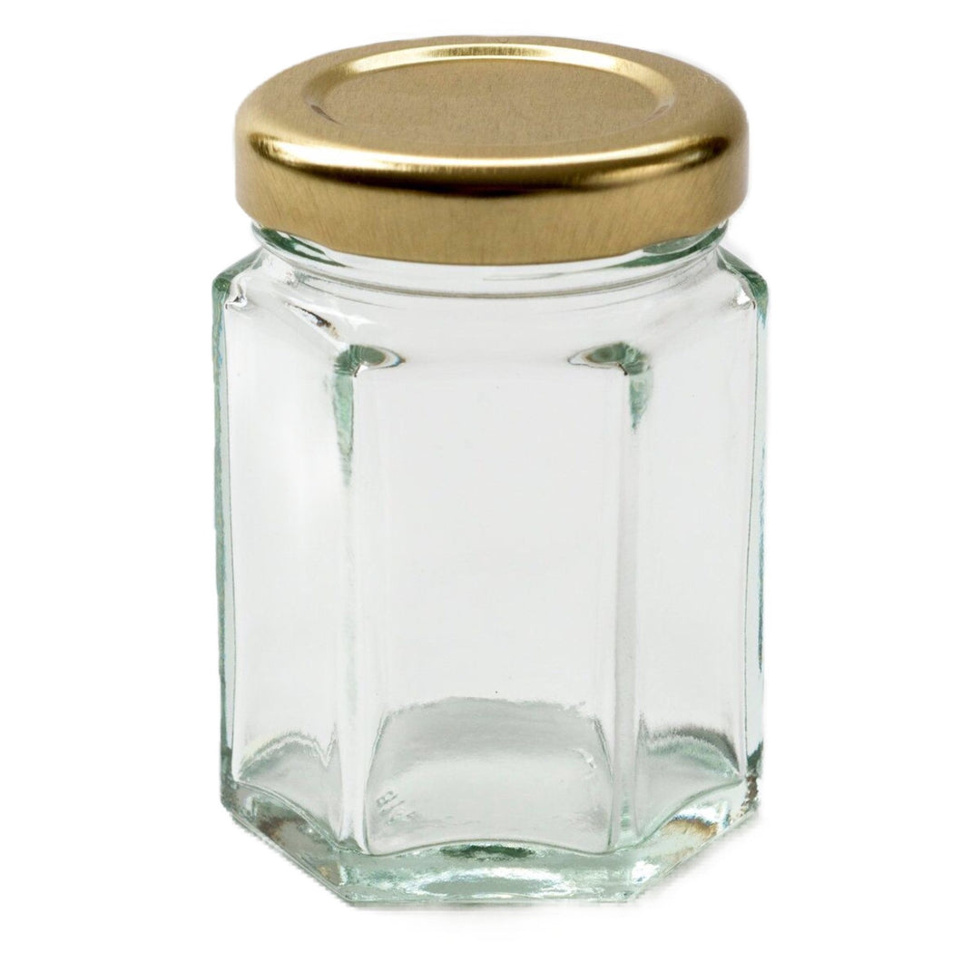Nutley's 55ml Hexagonal Jam Jar: Pick Quantity and Lid Colour