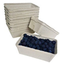 Load image into Gallery viewer, Nutley's fruit punnets fibre biodegradable compostable recycled 250g